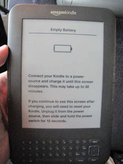 Kindle on Plane