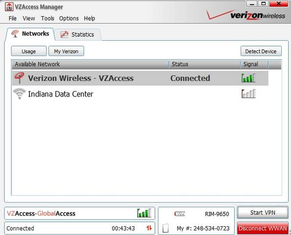 Verizon USB Wireless Modem for Internet Access