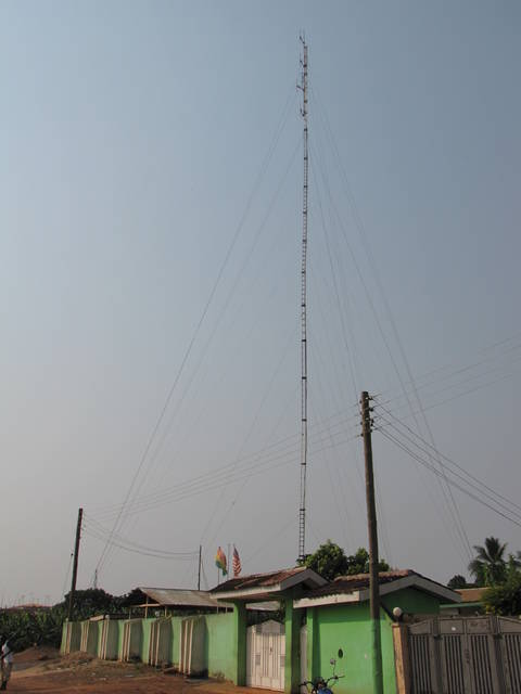 Radio Tower with Office Below in Mampong Ghana