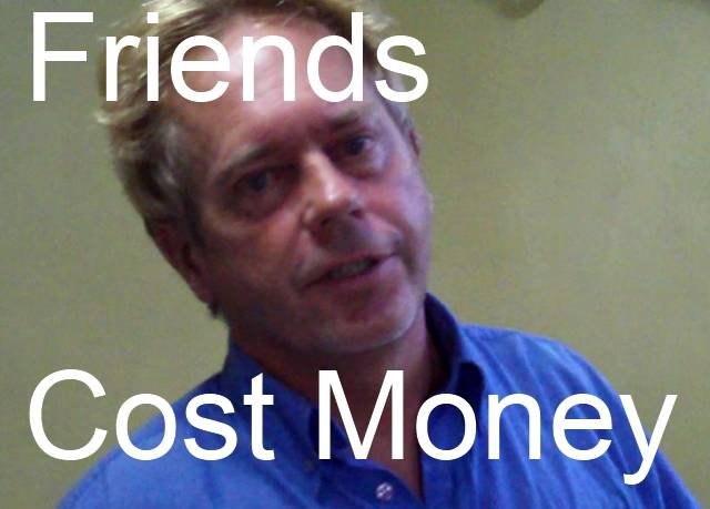 Andy Graham Travel Blog Explaining how Having Friend Cost Money Because they Nick You Daily.