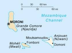 Map of Anjouan