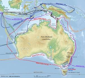 Map of the Australia history