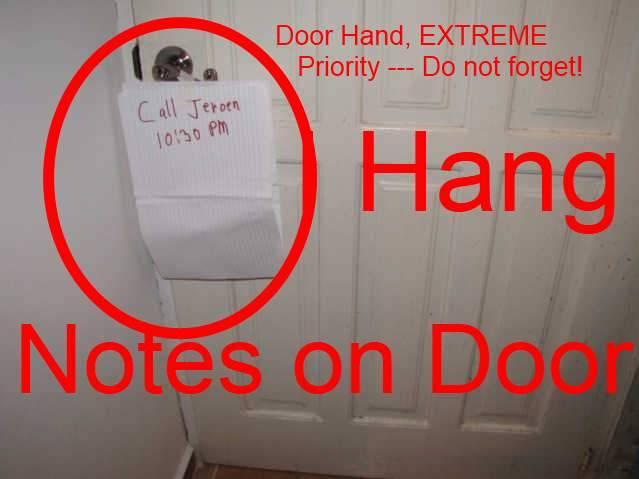 Hang Note on Door