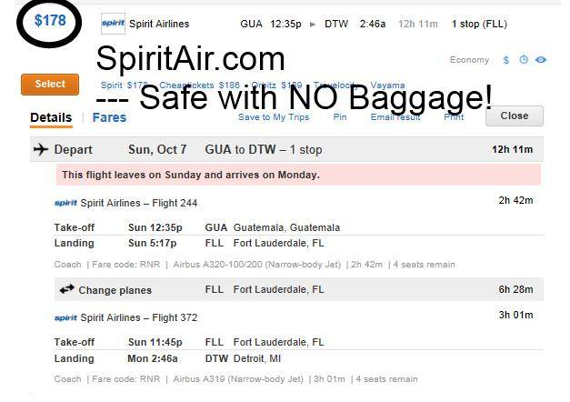 Throwing travel gear in trash for Spirit airlines ticket prices