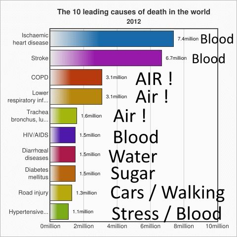 WHO leading causes of death