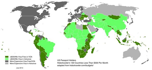 500 Per Month Countries