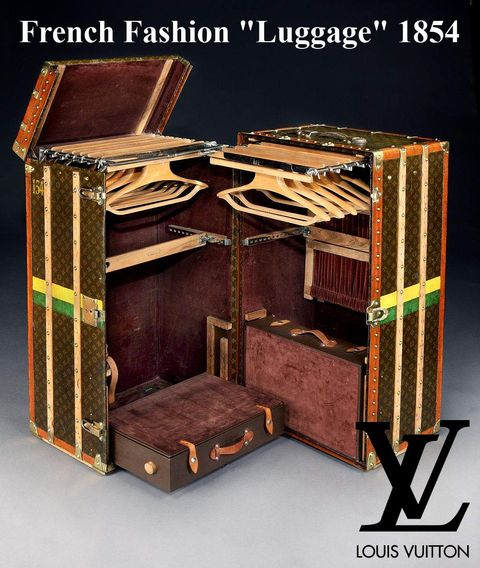 This is how luggage was in 1800, the Louis Vuitton Trunk.
