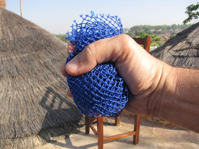 Net used in West Africa to wash face.