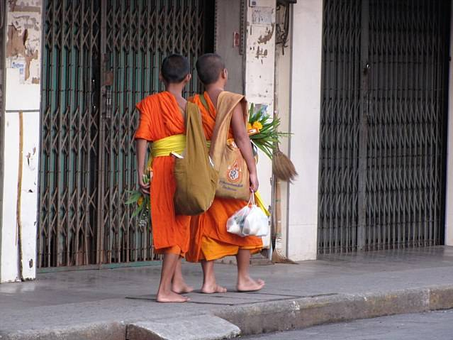 I believe it is a tradition, that for one year all boys are a Monk. title=