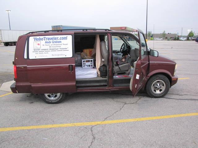 Road Trip Van in Walmart
