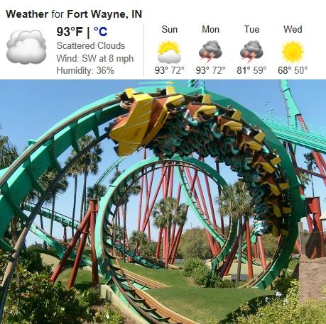 Roller Coaster Weather