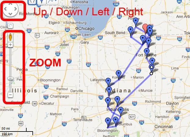 Day 013 Google Map of USA Road Trip by Andy Lee Graham – Travel Maps Of Usa