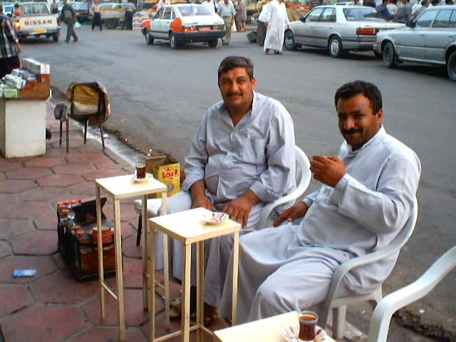 Tea in Mosul, Iraq
