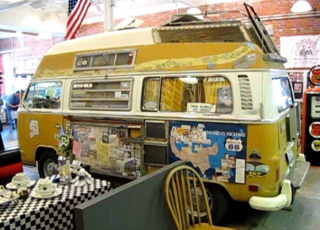The cliché VW Micro bus used by travelers to see the USA or Europe.