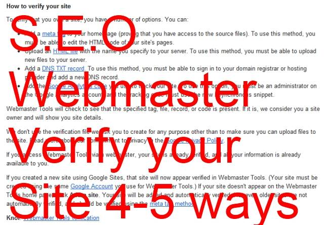 SEO --- When Working Abroad You Need to Verify Your Site in 4 Ways with Google