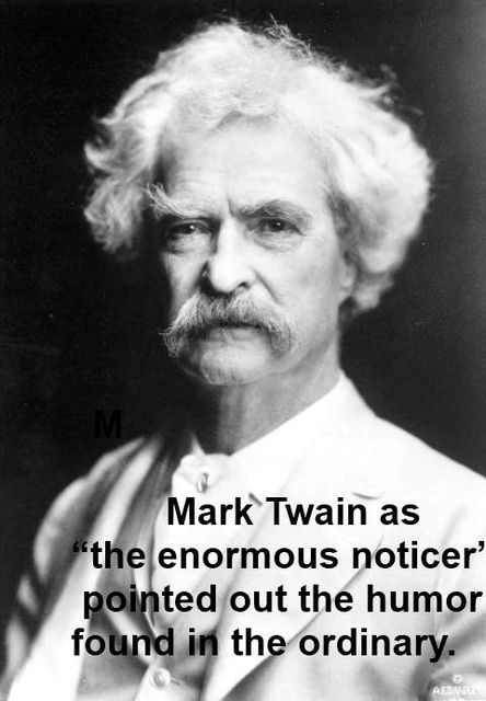 Mark Twain the Enormous Noticer