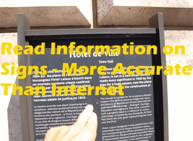 Read Tourist Information Boards