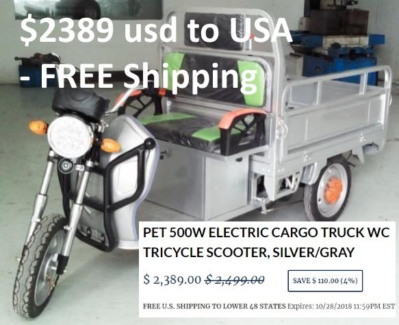 Electric Motorcycle Cargo Trike USA