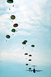 Alot of parachute flying