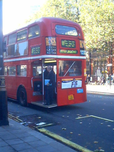 London's common double decker bus