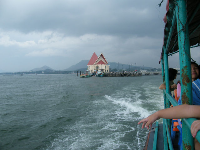Riding a ferry from koh Sichang.