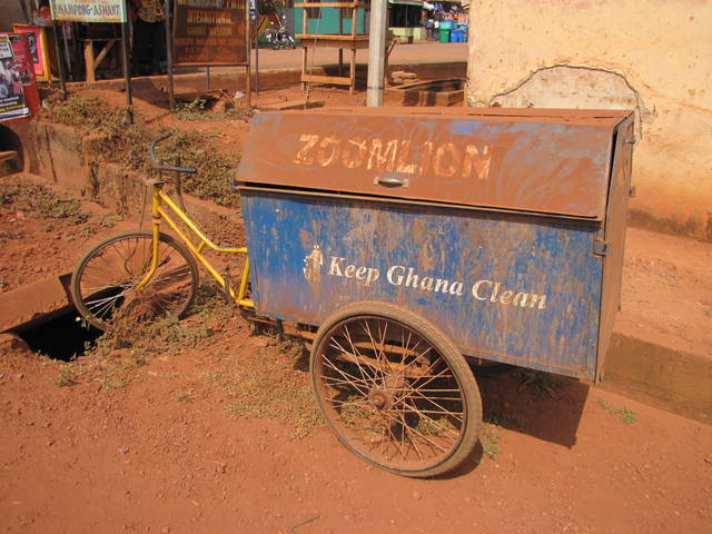 Bicycles used for Garbage in Ghana