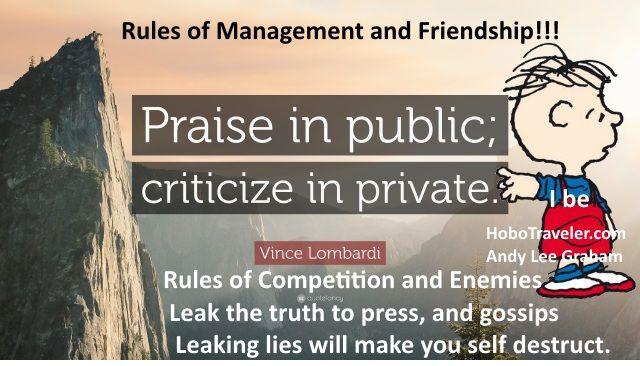 Critisize in Private