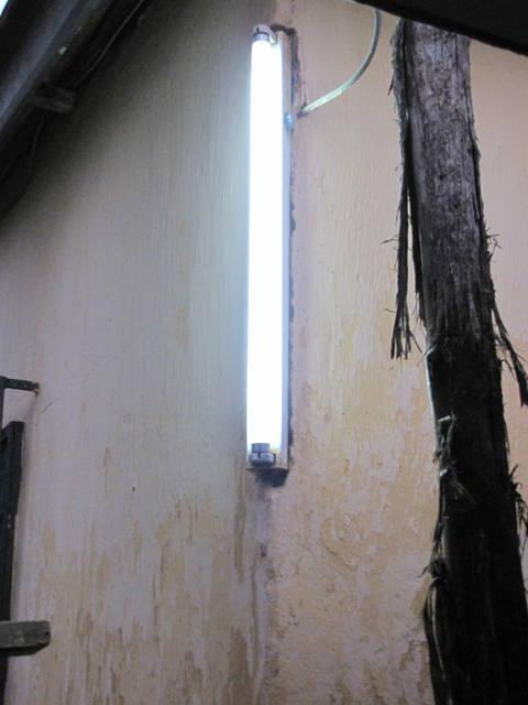 Light Shining in Hotel Room