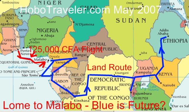 Lome to Malabo Flight