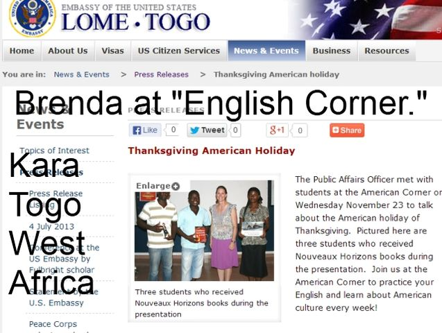 Brenda Soya POA USA Embassy Togo