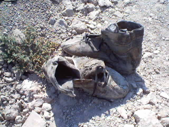 Shoes on Grave in Iraq