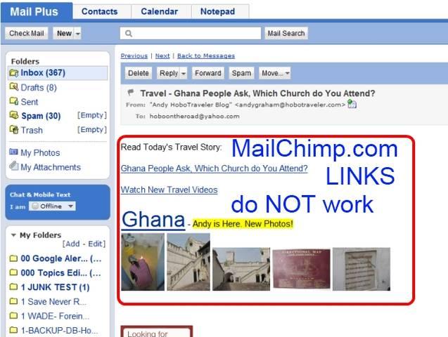MailChimp.com Tracking Links
