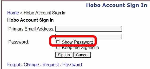 Show Password When Login or Sign In Option title=