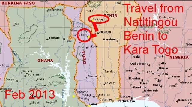 Kara Togo Map
