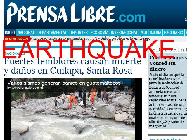 Earthquake Guatemala