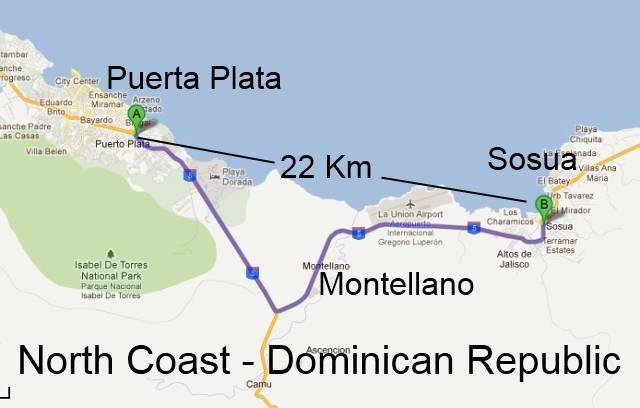 Puerta Plata Montellano Map