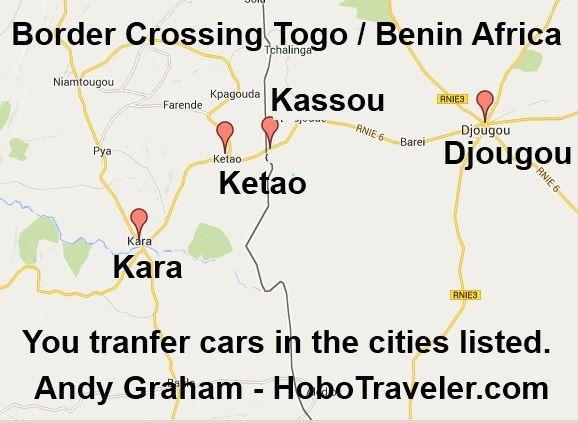 Togo border crossing at Kara