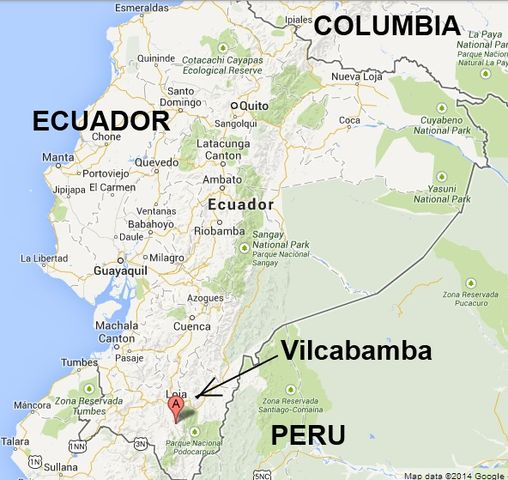 Vilcabamba Ecuador Map Location